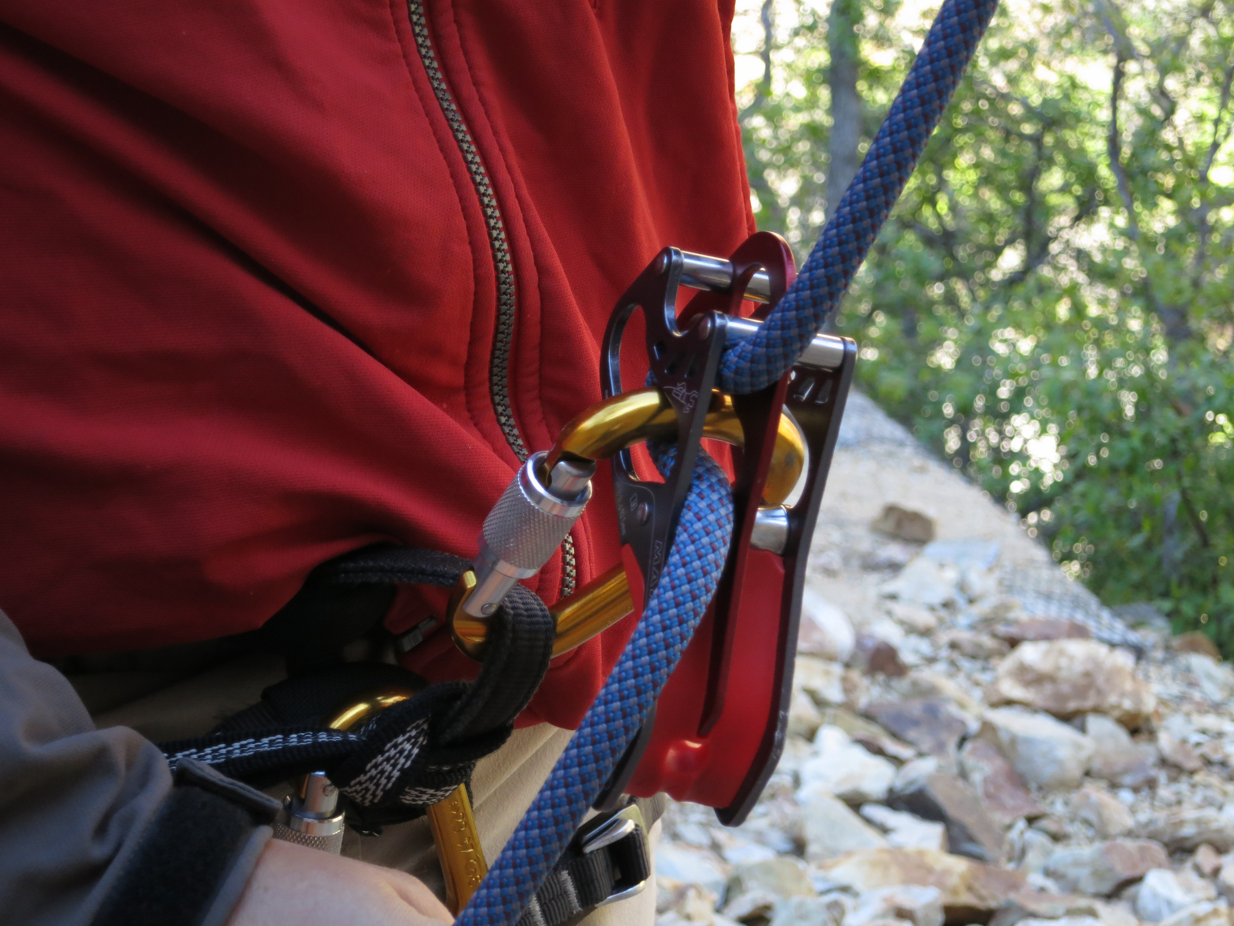 Mammut Smart Alpine in belay mode