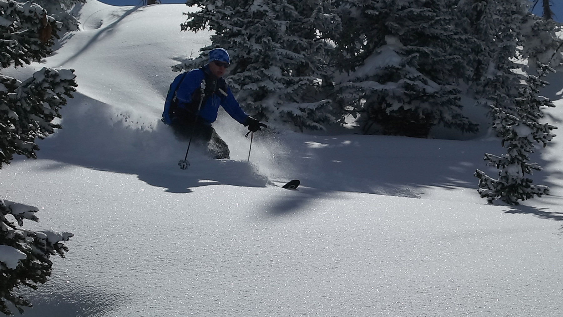 Fresh powder in the Teton backcountry