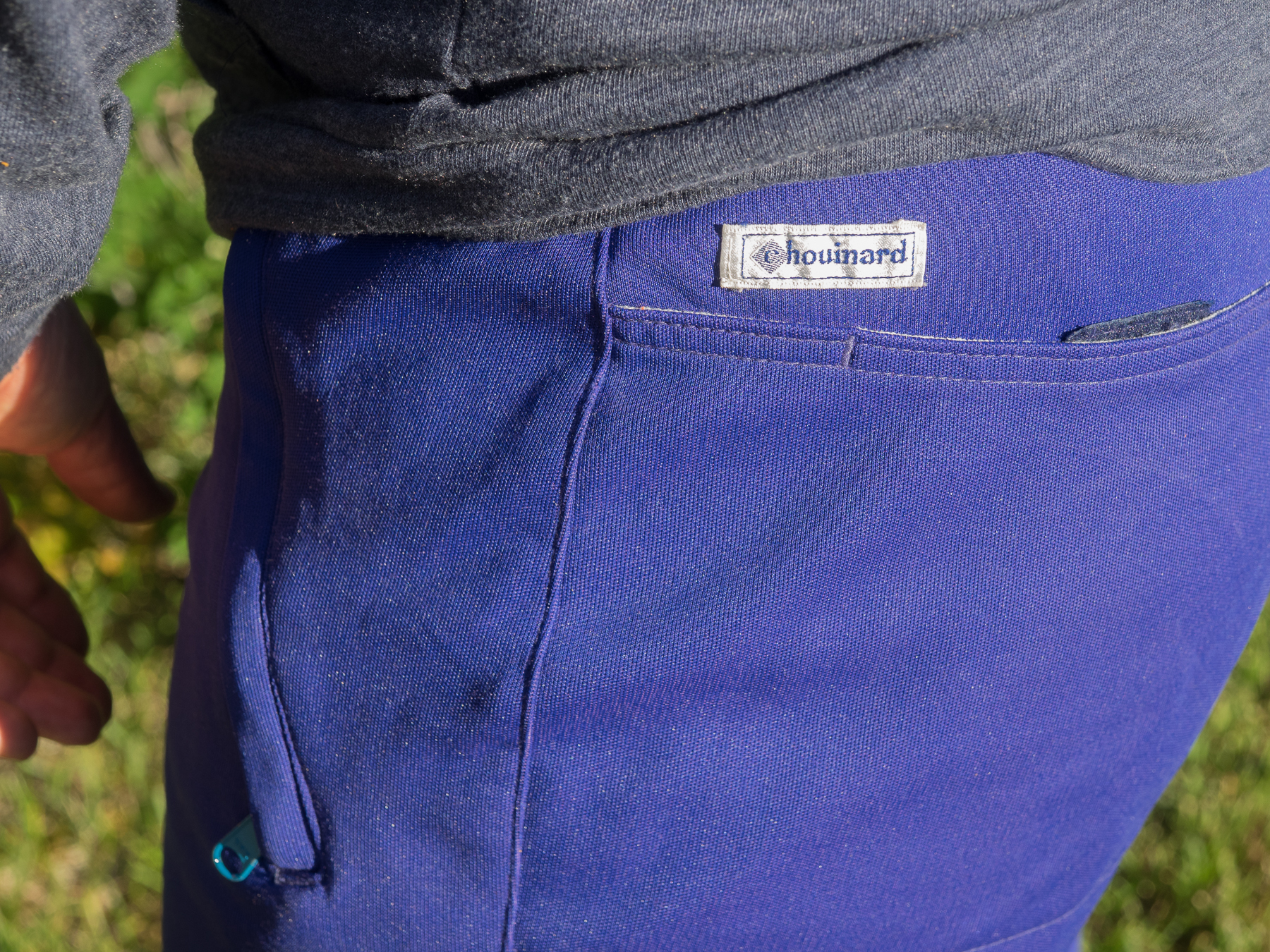 Cotton interior. Nylon exterior. Tough Comfortable. Chouinard Rock Bottoms climbing pants