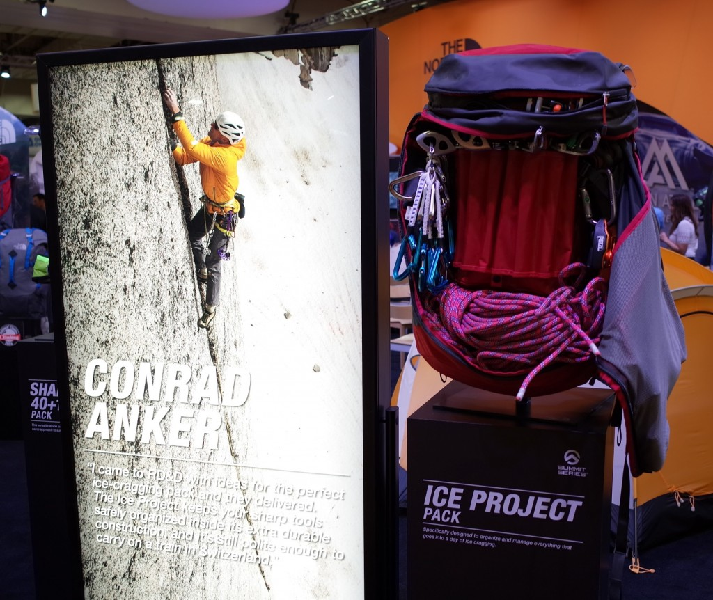 North Face Ice Project:  A pack designed specifically for ice cragging