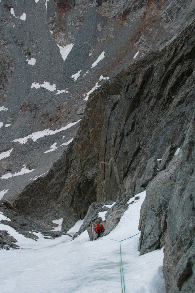 On the 2nd pitch of Tower 1 Gully