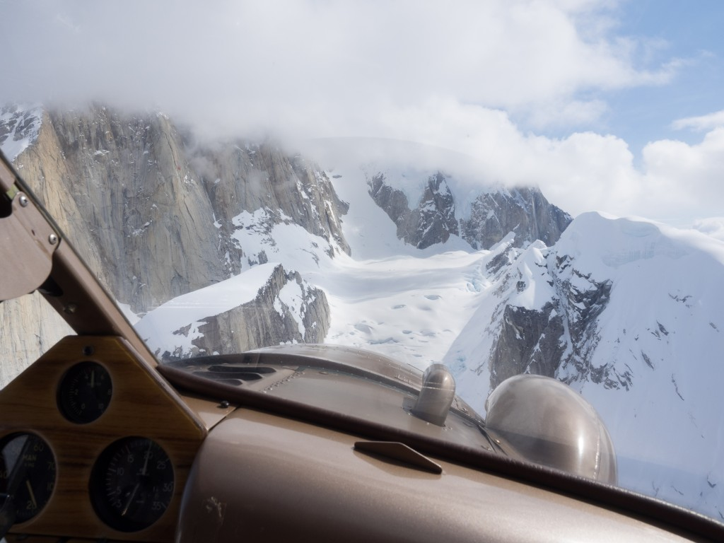 Approaching the Root Canal Glacier