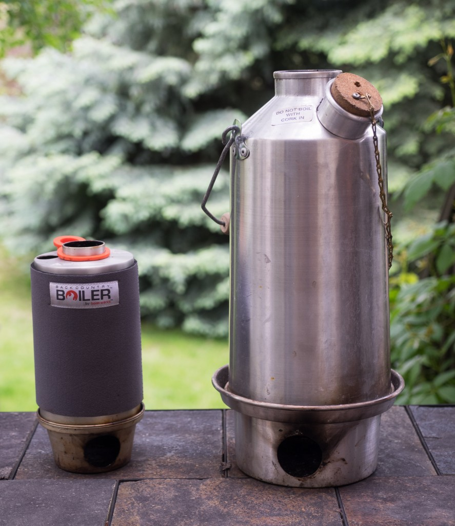 Backcountry Boiler, and it's big brother, the Storm Kettle