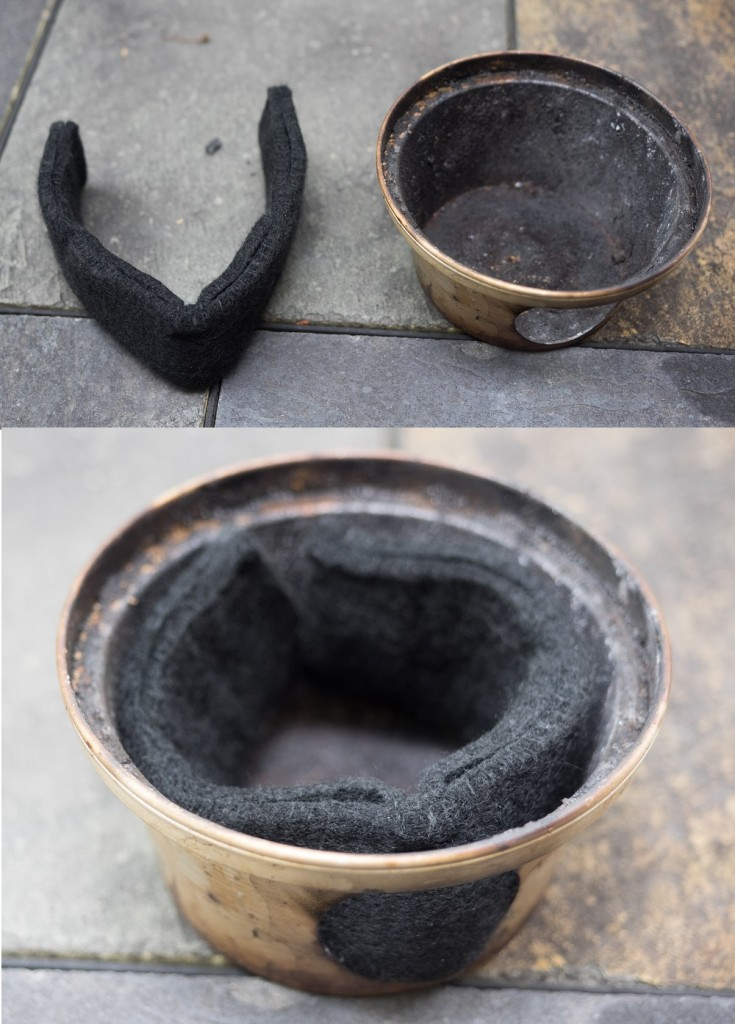 Fire Felt is used with alcohol fuel.  It sits in the fire bowl.